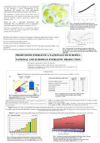 Figura 4: Italia al 4  posto come produttrice di energia da fonti rinnovabili