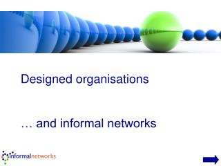 Designed organisations    and informal networks