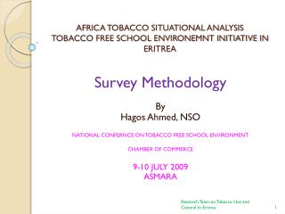 AFRICA TOBACCO SITUATIONAL ANALYSIS