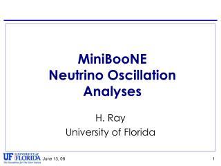 MiniBooNE Neutrino Oscillation Analyses