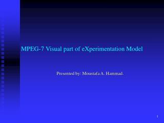 MPEG-7 Visual part of eXperimentation Model