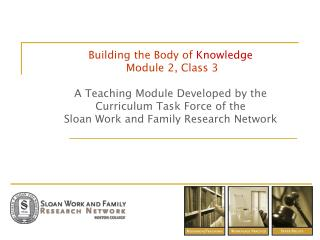 Building the Body of Knowledge   Module 2, Class 3   A Teaching Module Developed by the  Curriculum Task Force of the  S
