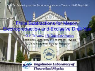 Finite Subtractions for Meson   Electroproduction and Exclusive Drell-Yan