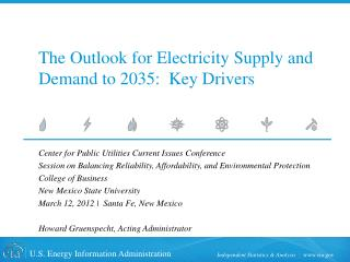 The Outlook for Electricity Supply and Demand to 2035:  Key Drivers