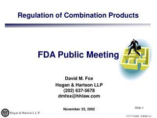 FDA Public Meeting