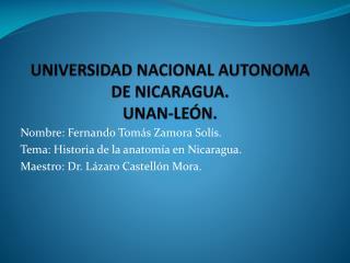 UNIVERSIDAD NACIONAL AUTONOMA DE NICARAGUA. UNAN-LE N.