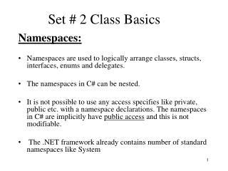 Set  2 Class Basics