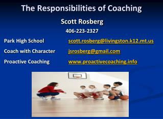 The Responsibilities of Coaching