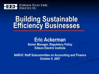 Building Sustainable Efficiency Businesses