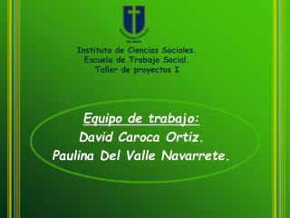 Equipo de trabajo: David Caroca Ortiz. Paulina Del Valle Navarrete.