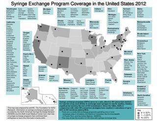 Syringe Exchange Program Coverage in the United States 2012