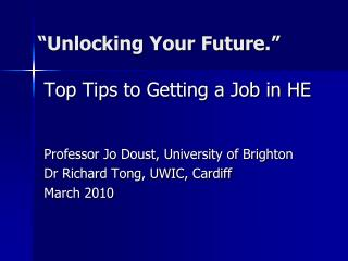 Unlocking Your Future.