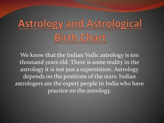 Astrology and Astrological Birth Chart