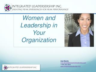Women and Leadership in Your Organization