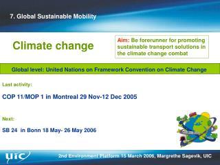 Last activity: COP 11