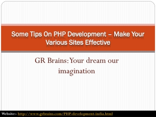 Some Tips On PHP Development – Make Your Various Sites Effec
