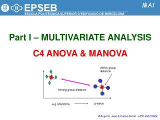 Part I   MULTIVARIATE ANALYSIS  C4 ANOVA  MANOVA