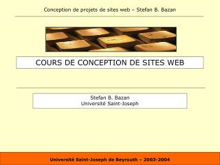 COURS DE CONCEPTION DE SITES WEB