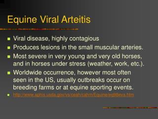 Equine Viral Arteitis