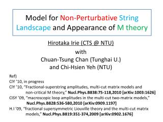 Model for Non-Perturbative String Landscape and Appearance of M theory