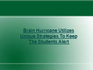 Brain Hurricane Tutoring