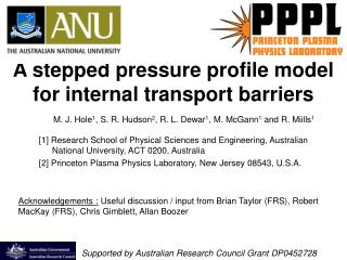 A stepped pressure profile model for internal transport barriers