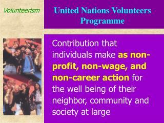 United Nations Volunteers Programme