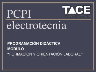 PCPI electrotecnia