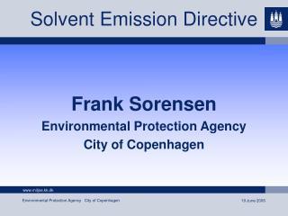 Solvent Emission Directive