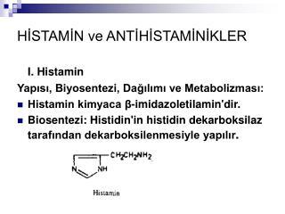 HISTAMIN ve ANTIHISTAMINIKLER