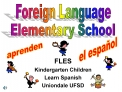 FLES  Kindergarten Children Learn Spanish Uniondale UFSD
