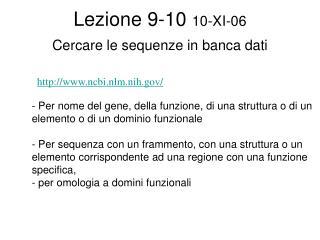Lezione 9-10 10-XI-06