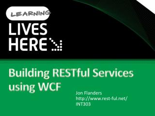 Building RESTful Services using WCF