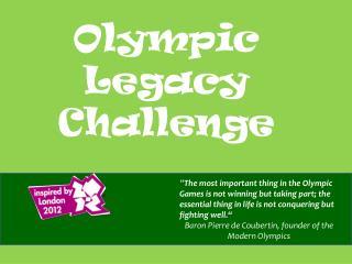 Olympic Legacy Challenge