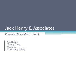 Jack Henry  Associates