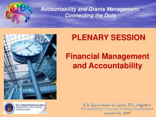 PLENARY SESSION  Financial Management and Accountability