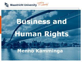 Business and Human Rights Menno Kamminga
