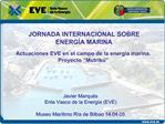 JORNADA INTERNACIONAL SOBRE  ENERG A MARINA