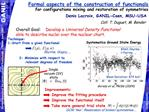 Formal aspects of the construction of functionals  for configurations mixing and restoration of symmetries