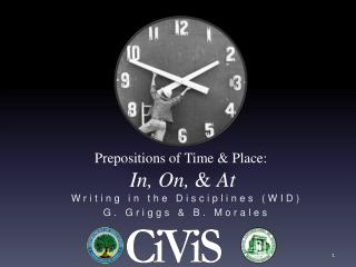 Prepositions of Time  Place:  In, On,  At