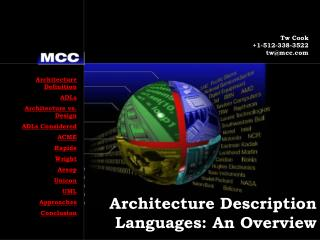 Architecture Description Languages: An Overview