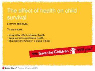 The effect of health on child survival