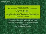 University of Florida Dept. of Computer  Information Science  Engineering COT 3100 Applications of Discrete Structures D