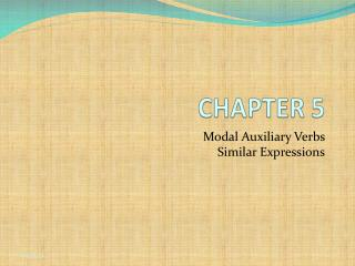 Modal Auxiliary Verbs  Similar Expressions
