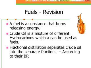 Fuels - Revision