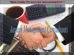 Aayush Management Consultants