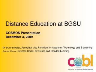 Distance Education at BGSU