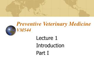 Preventive Veterinary Medicine VM544