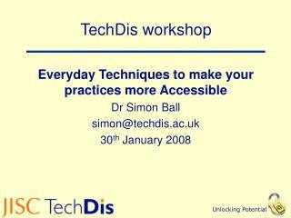 TechDis workshop