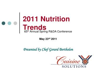 2011 Nutrition Trends